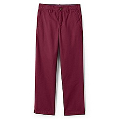 Lands' End - Boys' red iron knee cadet trousers