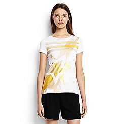 Lands' End - Gold brush stroke and stars tee