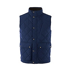Lands' End - Blue regular quilted primaloft gilet