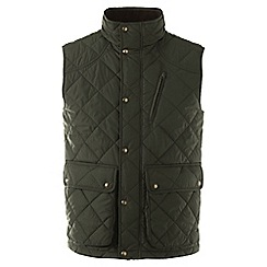 Lands' End - Green regular quilted primaloft gilet