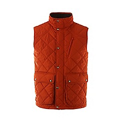 Lands' End - Orange regular quilted primaloft gilet