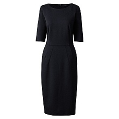 Lands' End - Black ponte jersey darted dress