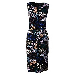 Lands' End - Black print jersey sleeveless darted dress
