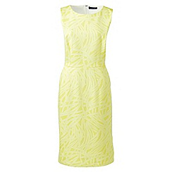 Lands' End - Yellow print jersey sleeveless darted dress