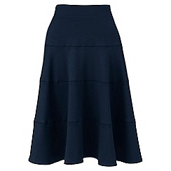 Lands' End - Blue ponte jersey seamed skirt