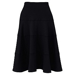 Lands' End - Black ponte jersey seamed skirt