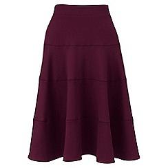 Lands' End - Red ponte jersey seamed skirt