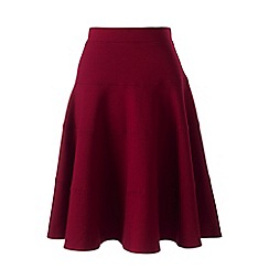 Lands' End - Red petite ponte jersey seamed skirt