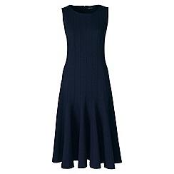 Lands' End - Blue ponte jersey seamed a-line dress