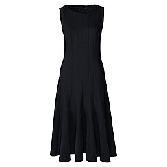 Lands' End - Black ponte jersey seamed a-line dress