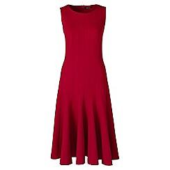 Lands' End - Red ponte jersey seamed a-line dress