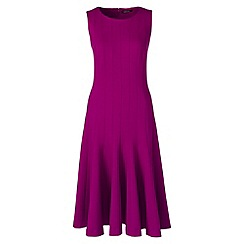 Lands' End - Pink ponte jersey seamed a-line dress
