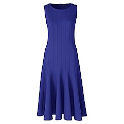 Lands' End - Blue ponte jersey seamed a-line dress