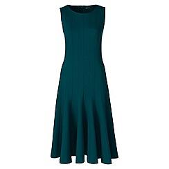 Lands' End - Green ponte jersey seamed a-line dress