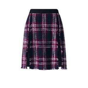 Lands' End Black fringe panel skirt
