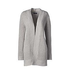 Lands' End - Grey cotton blend long shaker cardigan