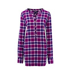 Lands' End - Purple brushed flannel tunic