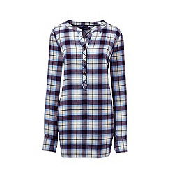Lands' End - Cream plus brushed flannel tunic