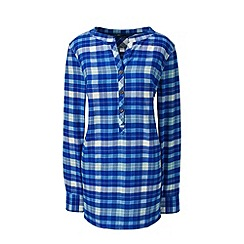 Lands' End - Blue plus brushed flannel tunic