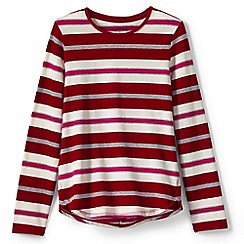 Lands' End - Red girls' long sleeve a-line print tee