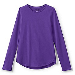 Lands' End - Purple girls' long sleeve a-line tee