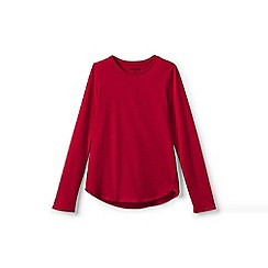 Lands' End - Red girls' long sleeve a-line tee