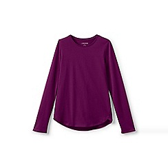 Lands' End - Blue girls' long sleeve a-line tee