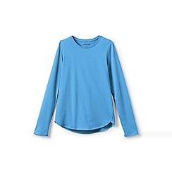 Lands' End - Blue girls' long sleeve a-line tee