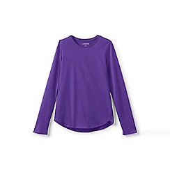 Lands' End - Purple girls' long sleeve a-line tee