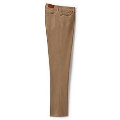 Lands' End - Brown mid rise straight leg cord jeans