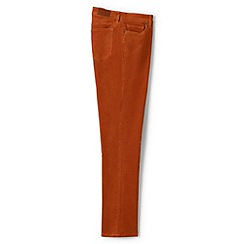 Lands' End - Orange mid rise straight leg cord jeans