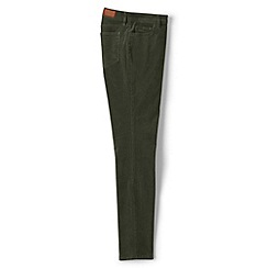 Lands' End - Green mid rise slim leg cord jeans