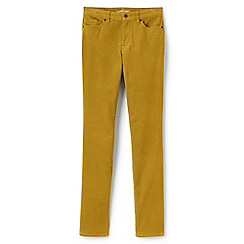 Lands' End - Yellow mid rise slim leg cord jeans