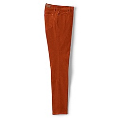 Lands' End - Orange mid rise slim leg cord jeans