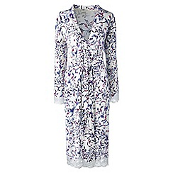 Lands' End - Cream patterned modal dressing gown
