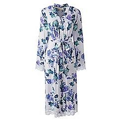 Lands' End - Pink patterned modal dressing gown