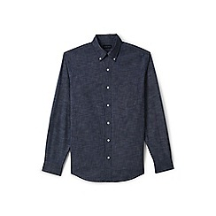 Lands' End - Blue tailored fit chambray shirt