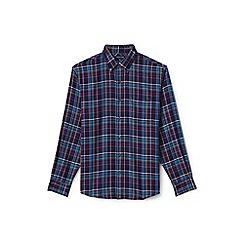 Lands' End - Blue regular tailored fit forewind twill shirt