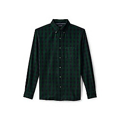 Lands' End - Green regular tailored fit patterned sail rigger oxford shirt