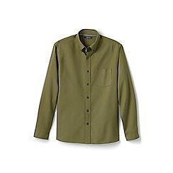 Lands' End - Green regular tailored fit sail rigger oxford shirt
