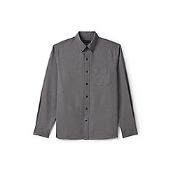 Lands' End - Grey regular tailored fit sail rigger oxford shirt