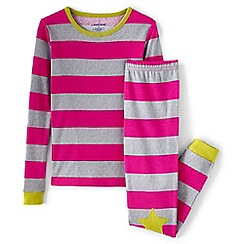 Lands' End - Multi girls' snug fit patterned pyjama set