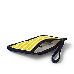 Lands' End - Yellow small printed canvas pouch
