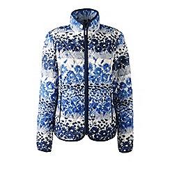 Lands' End - Blue petite primaloft patterned travel jacket