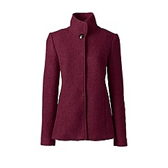 Lands' End - Purple textured wool blend jacket