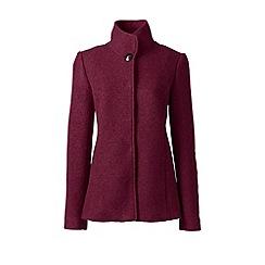 Lands' End - Purple tall textured wool blend jacket