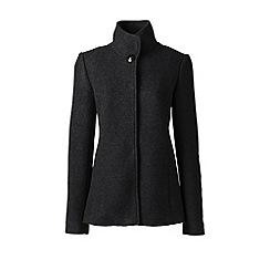 Lands' End - Grey tall textured wool blend jacket