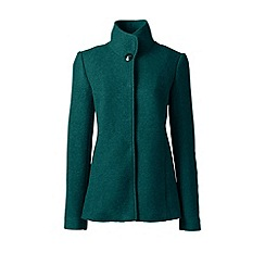 Lands' End - Green tall textured wool blend jacket
