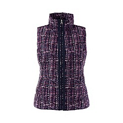 Lands' End - Purple hyperdry patterned down petite gilet