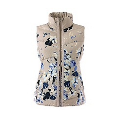 Lands' End - Cream tall hyperdry patterned down gilet